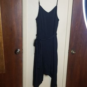 NWOT Apt 9 black satin spaghetti strap dress